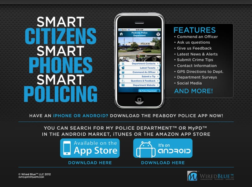Law Enforcement App MyPD Peabody
